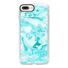 Ocean Blue Marble iPhone and iPod case - iPhone 7 Plus Case And Cover ($40) ❤ liked on Polyvore featuring accessories, tech accessories and iphone case