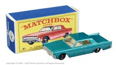"Matchbox Regular Wheels No.31c Lincoln Continental. Can be found in ""E"" type boxes."