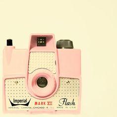 vintage pink camera