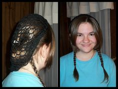 I came up with this hair style. These steps are for people with bangs, if you don't have bangs, ignore those steps. Also, in the photo I have my hair in a pony tail loop type thing on the snood. Don't do that, I just did it to save time.  Step 1: Pull bangs in the front, away from other hair.  Step 2: Pull most of other hair back in the snood. Leave some hair in the bottom for braids.  Step 3: Separate the left over hair into two pieces. Braid them.  Step 4: Straighten bangs if needed.