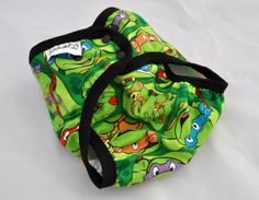 cloth diaper cover - ninja turtles -   S, M, L - custom made