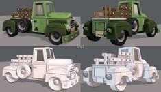 Pickup truck cartoon | 3D model 3d Projects, Pick Up, Pickup Trucks, 3d Printing, Animation, Models, Cartoon, Game, Engineer Cartoon