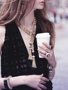 Art deco-inspired jewelry ~ Rachael Zoe