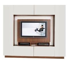 meuble de rangement séparateur de pièce pivotant avec emplacement pour écran plat