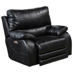 Catnapper Sheridan Power Lay Flat Recliner with Power Headrest in Black