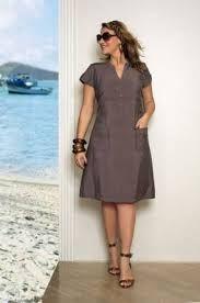 Resultado de imagem para vestidos trapezio plus size