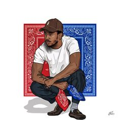 Amazing fanart of Kendrick Lamar