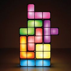 Light up the night with a game of Tetris! Check out our Tetris Lamp!