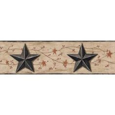 York Wallcoverings 6 in. Inspired by Color Country Barn Star and Vine Border-BG1632BD at The Home Depot