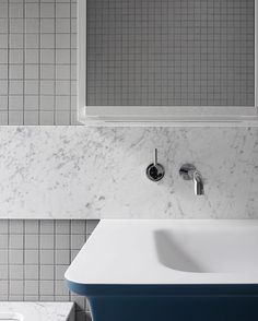 Crisp and sharp, with a punch of colour - bathroom details at our recently…