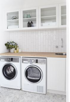 Washing Machine   Fisher & Paykel Wash Smart Dryer   Fisher & Paykel Condensing Dryer Cabinets   Carrera By Design Taps   Caroma