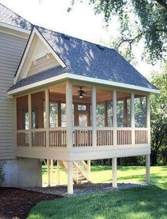 We're in the drawing board of our back porch remodel as well as wish to share with you some of the motivational back porch ideas we have discovered. Pisa, Porch Kits, Porch Ideas, Porch Addition, Building A Porch, Modern Farmhouse Exterior, Exterior Makeover, Screened In Porch, Front Porches