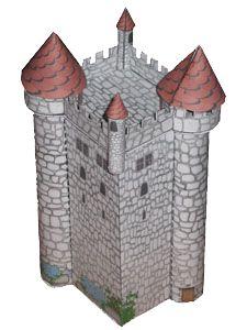 Maquette de ch teau en papier carton d couper plier et for Maison papier a decouper