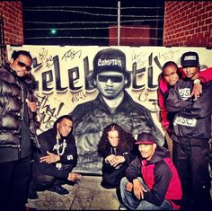 """Bone Thugs-N-Harmony & The Game on the video shoot for """"Celebration"""" remix , 90s Hip Hop, Hip Hop And R&b, Hip Hop Rap, Rap Music, Music Icon, Music Tv, Bizzy Bone, History Of Hip Hop, Robin Thicke"""