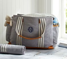Pottery Barn Kids Gray Classic Diaper Bag on shopstyle.com