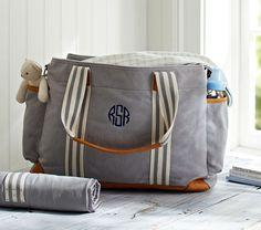Pottery Barn Kids Gray Classic Diaper Bag on shopstyle.com