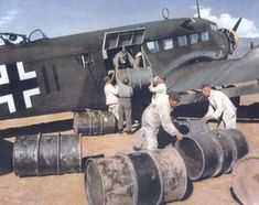 Ju-52 loaded with fuel barrels // WARBIRDS // Play 2 Weeks FREE WWII Fighter Sim http://www.totalsims.com/