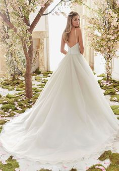 Wedding Dresses and Bridal Gowns by Morilee designed by Madeline Gardner. Beautiful Duchess Satin and Tulle Ball Gown Wedding Dress