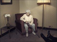 Grandma shoots.