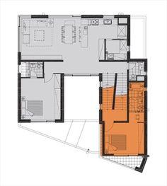 Skiplex Home(스킵플렉스 홈) : 서로 교차하며 감싸 안은 자매의 집 : 네이버 포스트 Floor Plans, Flooring, How To Plan, Building, House, Home, Buildings, Wood Flooring, Homes