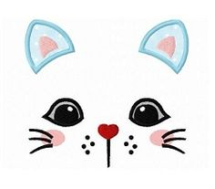 Kitty Cat Face 2 Applique - 3 Sizes!   What's New   Machine Embroidery Designs   SWAKembroidery.com Dollar Applique
