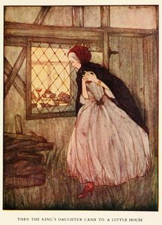 Rie Cramer - Grimm's fairy tales (c1922) - Then the King's daughter came to a little house.