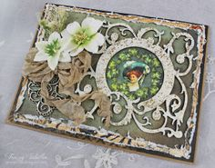 Irish Blessings Birthday Card by Tracey Sabella ~ DT for Helmar - Side View