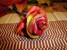 DIY autumn rose - YouTube
