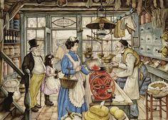 Картины Anton Pieck: северная сказка - Ярмарка Мастеров - ручная работа, handmade