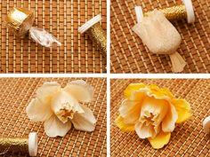 Buquê de bombom de casamento com flores de papel crepom para decoração de mesas…