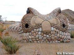 400 foot Rattlesnake in the Median University Boulevard, Albuquerque, NM