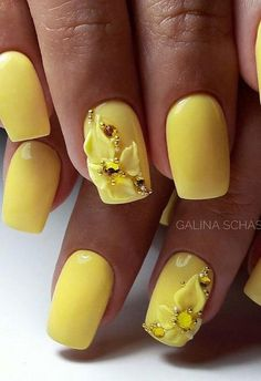# Nails Casual Nails, Yellow Nail Art, Gyr, Toe Polish, Pedi, Beauty Nails, Fun Nails, Summer Fun, Nail Art Designs