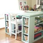 Ana White | Build a Modern Craft Table | Free and Easy DIY Project and Furniture Plans