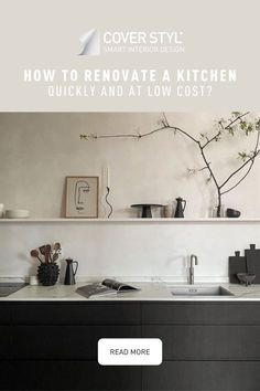 Are you looking to change the decoration of your old kitchen? Why replace when you can upgrade? You can give your walls and furniture a new look by covering them with Cover Styl' adhesive films. Kitchen cupboard, drawer, splashback, worktop, table, bar... Everything is possible! Save time and money, this is the solution to get a kitchen on a budget. Here is Loft208's kitchen makeover. The cabinets were wrapped with a black wood effect vinyl. Click here to find out more and get more ideas!