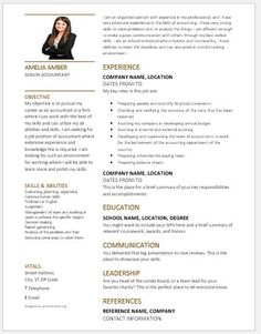 Basic Resume Template 2018 Accountant Resume 2018 Template Download At Httpwriteresume2
