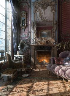Fireplace, blender 3d