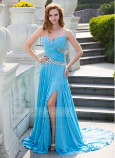 Light Blue Cute Prom Dress