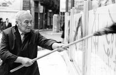 Colita - Barcelona Miró pintando el Colegio de Arquitectos de Barcelona, 1969.
