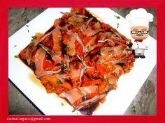 Cocina con Paco: Ensalada de pimientos asados con salmón
