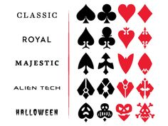 Playing card vector symbols d