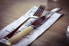 antique fork and knife