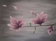 beautiful and relaxing colors Oil Painting Basics, One Stroke Painting, Tole Painting, Painting Tips, Nature Paintings, Oil Paintings, Relaxing Colors, Bathroom Stuff, Magnolia Flower