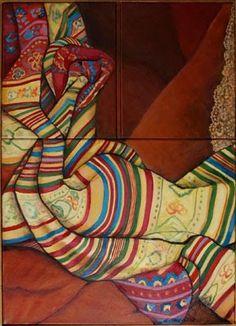 Três gerações: pintura de Emília Mattos e Silva