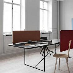 Lintex - Edge - moffice.dk. #Bordskærm med rent design og lydabsorberende egenskaber. Design: Christian Halleröd #akustik #kontorindretning #Office #design #virksomhedsindretning