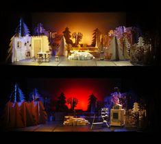 Escenografía Opera Hansel y Gretel carton decoracion ambientacion por Cartonlab. Cardboard custom scenography opera theatre muppets decoration setting by Cartonlab