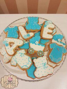 Boy christening cookies