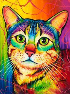 Rainbow kitty cat - Animals | The Artwork of Steven Schuman