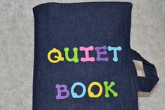 Quiet book: Match the colours with snaps Tie the shoe Buckles Put on the mitten Brush the monkey's teeth Count the Beads (double page) Tell time Match the shapes with velcro Button on the flowers Braid the ribbons Zipper Frog (with two baby frogs inside) Sewing Crafts, Sewing Projects, Diy And Crafts, Crafts For Kids, Flower Braids, Busy Book, Etsy, Craft Gifts, Patch