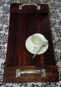 Choco Brown Pallet Serving Tray - 101 Pallet Ideas