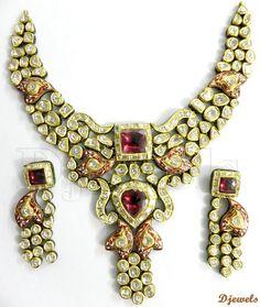 Rajeshwari Polki Kundan Diamond Necklace Set